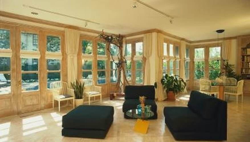 Sunrooms have many windows.