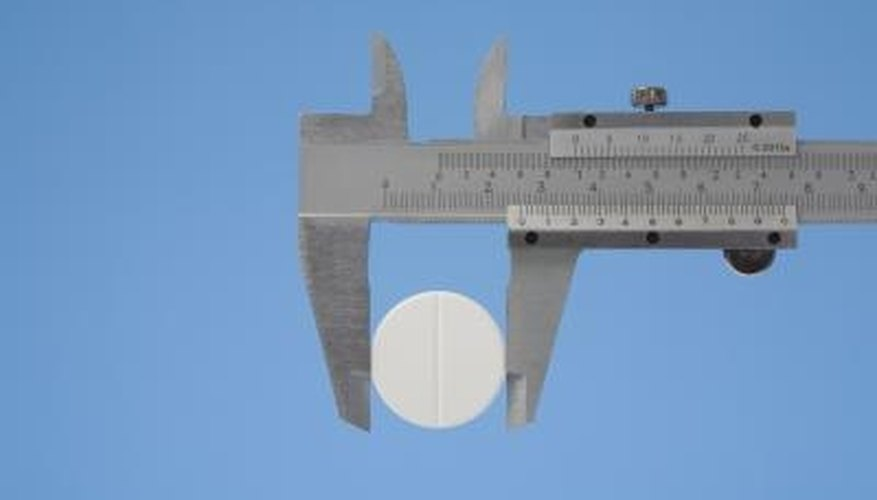 Slide calipers are used for measurements in which rulers do not suffice.