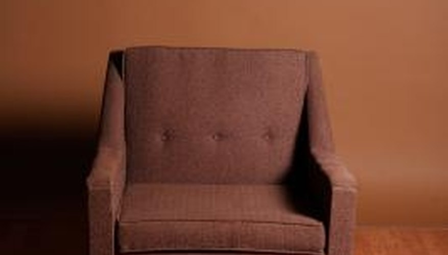 Springs provide support and comfort in the seats of most upholstered chairs.