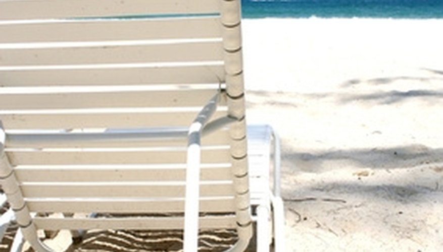 Mesh beach chairs can be repaired easily at home if they develop a tear.