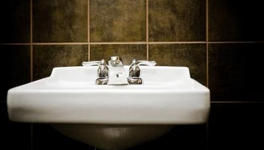 Porcelain sinks should be shiny and bright.