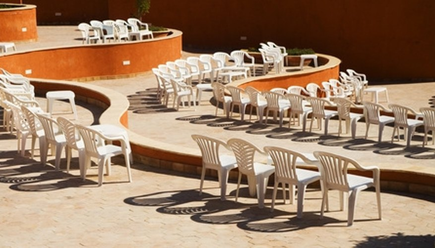When exposed to oxygen for long periods of time, white plastic chairs can oxidize.