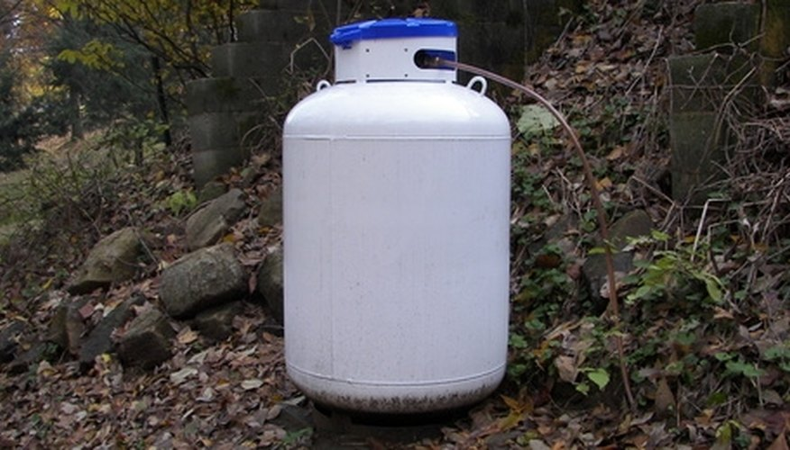 Propane is stored in gas tanks.