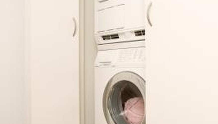removing the stacking brackets enables you to take down the dryer for repairs
