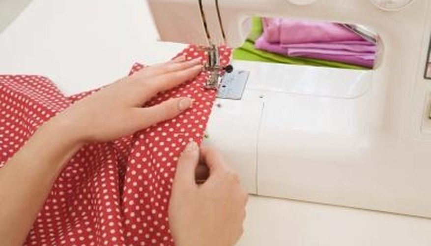 You can usually adjust the stitching length on a sewing machine.