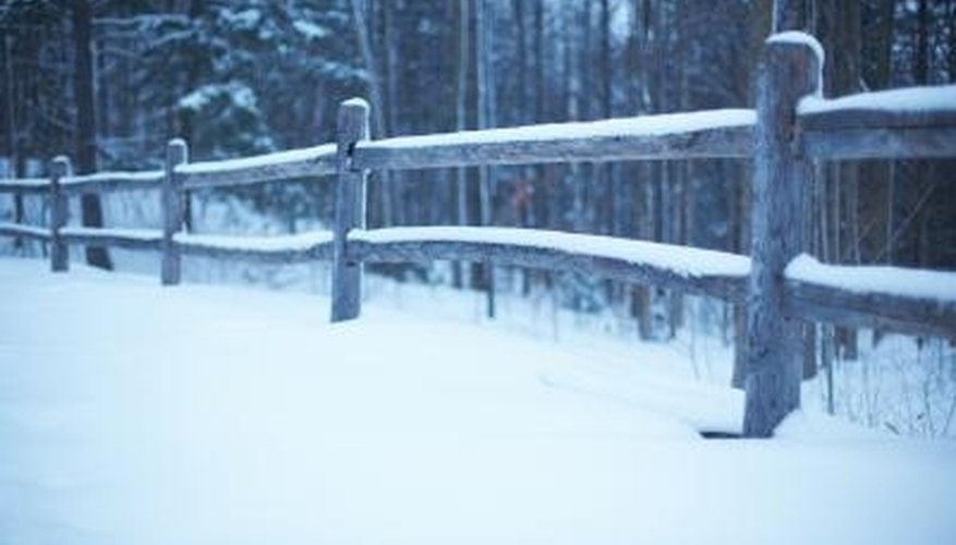 Fence posts may be susceptible to frost heave in cold climates.