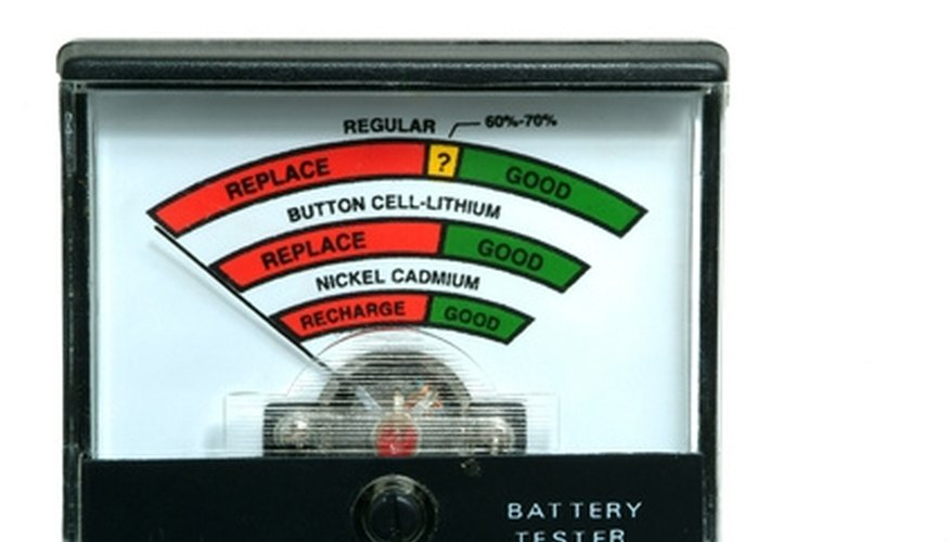 Much like this battery tester, the fence tester tells you how much current is on the fence.