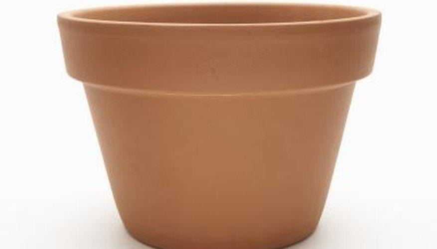 If properly sealed, clay planters make sturdy and decorative birdbaths.