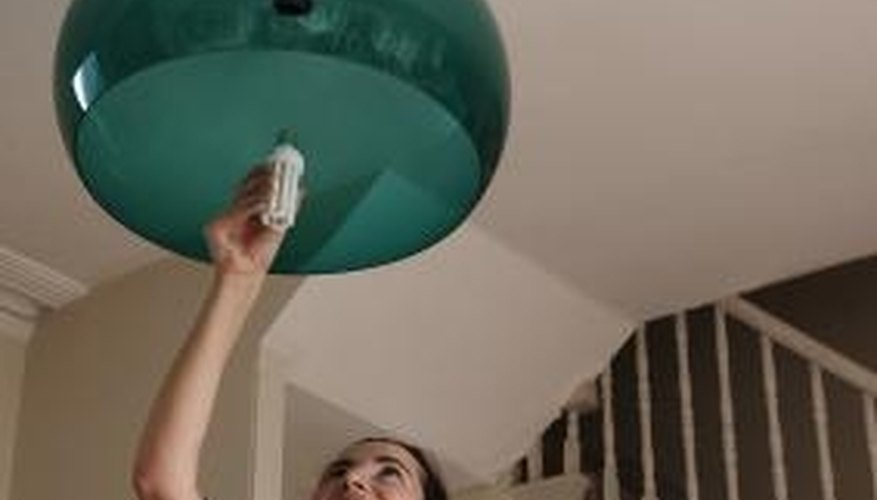 Using an extended-life light bulb will limit the number of changes needed.