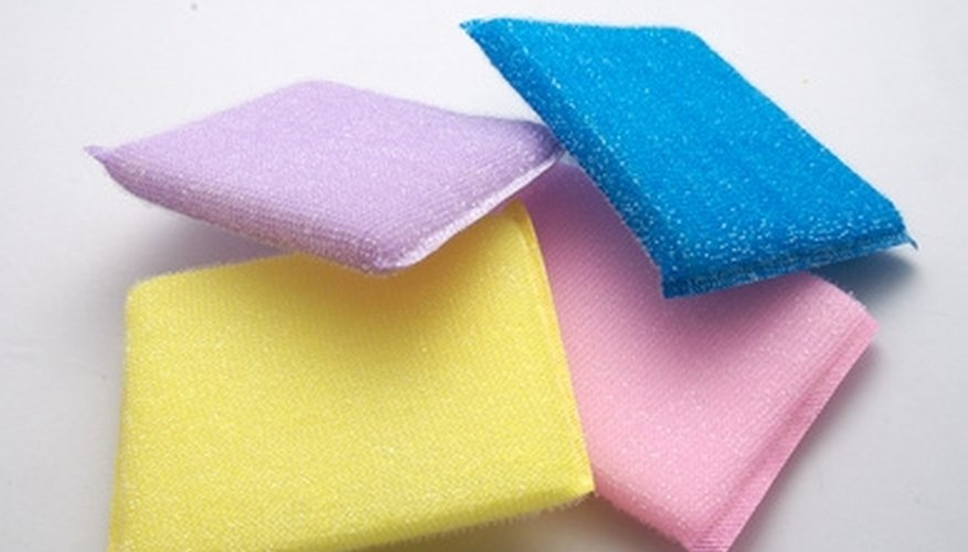 Replace store-bought scrubbers with an inexpensive homemade dish scrubber.