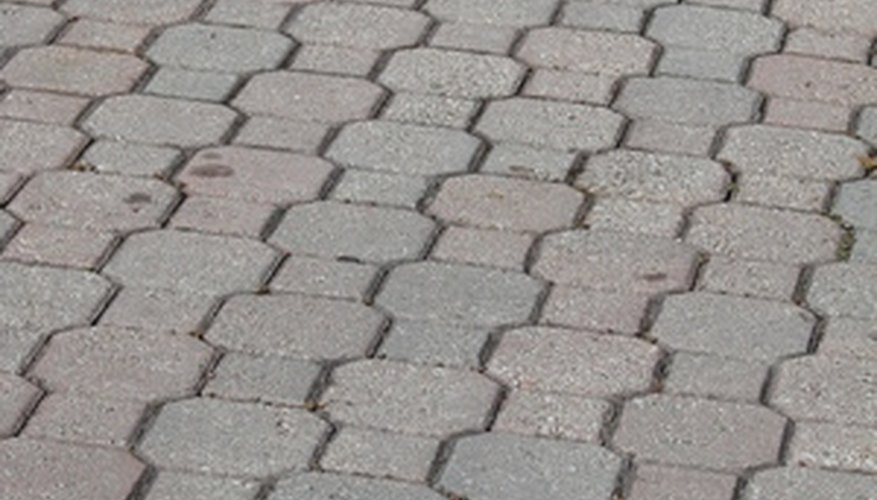 Removal of interlocking paver bricks allows for repair or replacement.