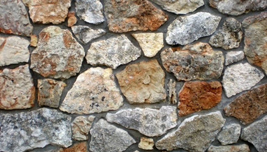 Artificial rock gives the look and feel of a natural stone wall.