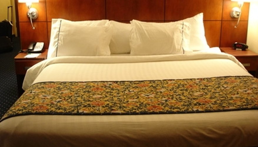 Properly folded fitted sheets lead to a crisply made bed.