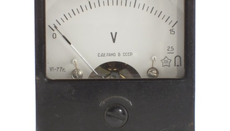 A voltmeter measures the difference between the positive and negative meter terminals.