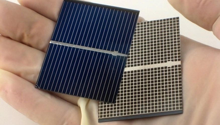 Some commercially produced mini solar panels are as small as the palm of your hand, but most lack the power to warrant the use of electrical outlets.