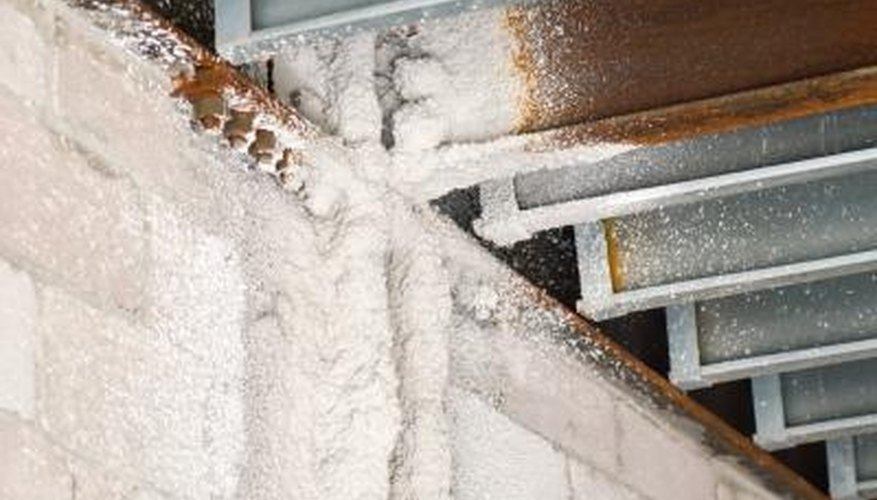 Spray foam insulation expands to fill cracks and crawlspaces.