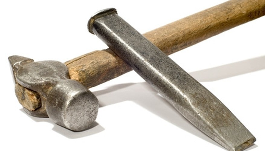 Simple tools can be used to reset flagstone.