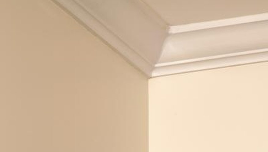 Use paint to create faux molding on your ceiling.