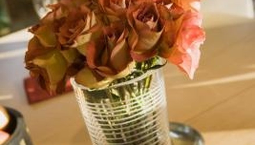 Give the dried roses added protection.
