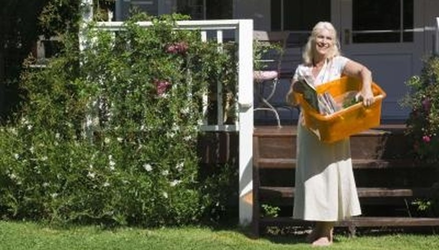 Build an outdoor storage box for your gardening supplies.