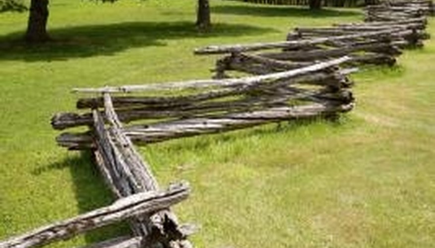 Split-rail fences are ideal for pastures with cattle.