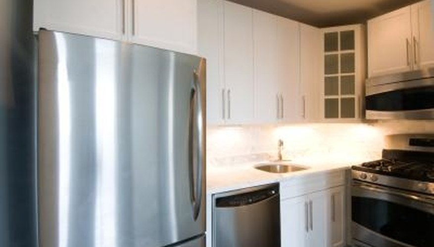 Refrigerator placement is often determined by the kitchen design.