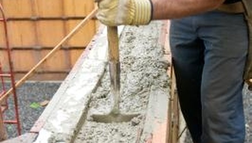 Concrete can be reinforced with chain link fencing to make it stronger.