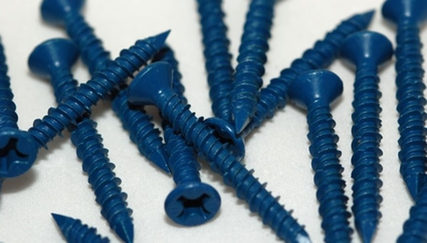 Masonry screws are used to attach to block and concrete.
