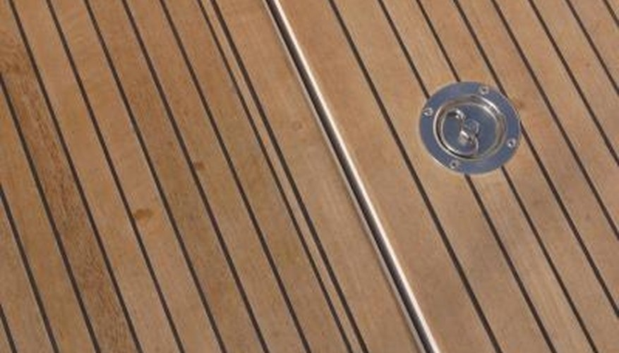 Teak is a commonly used material in boat and deck construction.