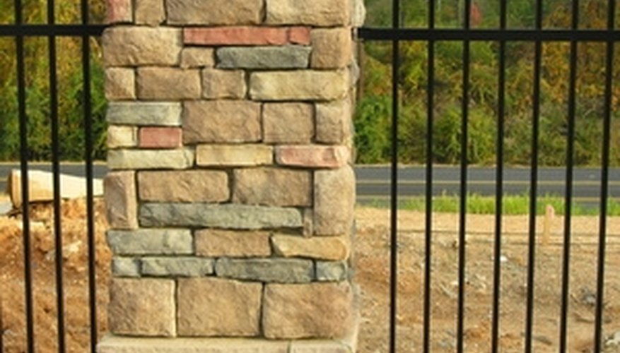 A stone column can add an old country flare to your outdoor space