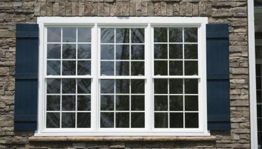 Shutters may be used to frame a window.