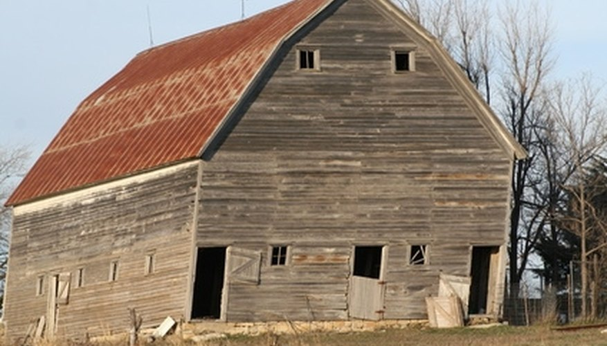 A fresh coat of paint can help breathe new life into an old barn.