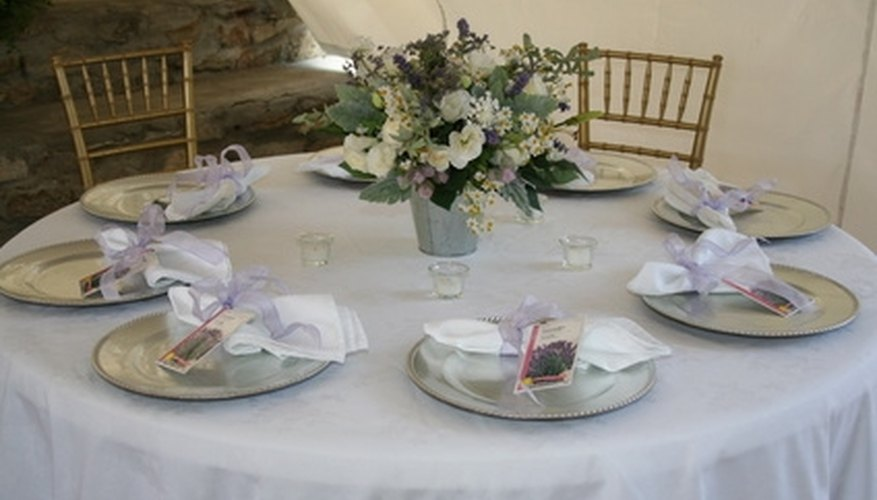A modern table centerpiece often includes flowers.