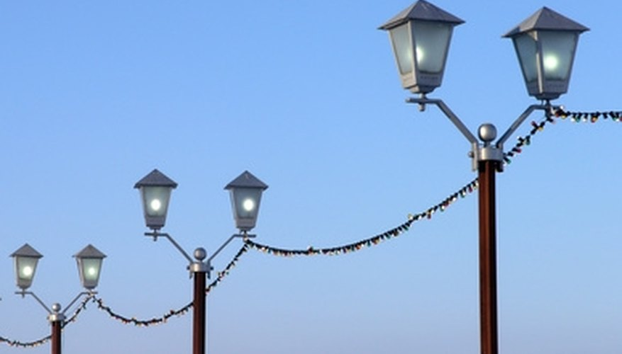 Voltage drop affects the reliability and performance of street lamps in series.