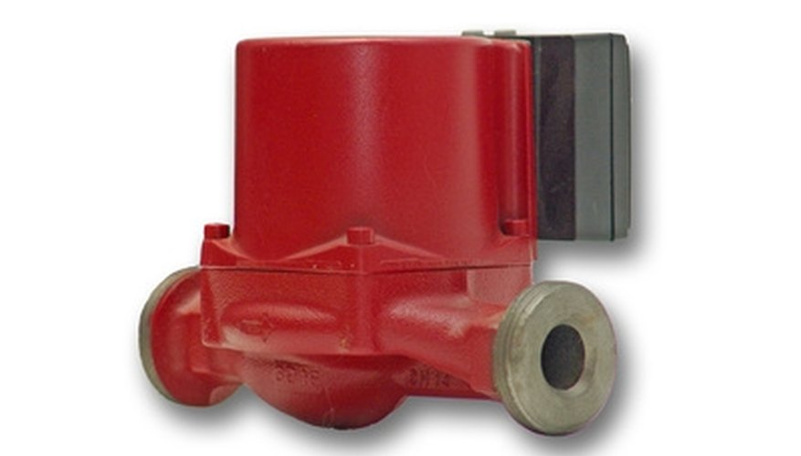 A hot water recirculation pump
