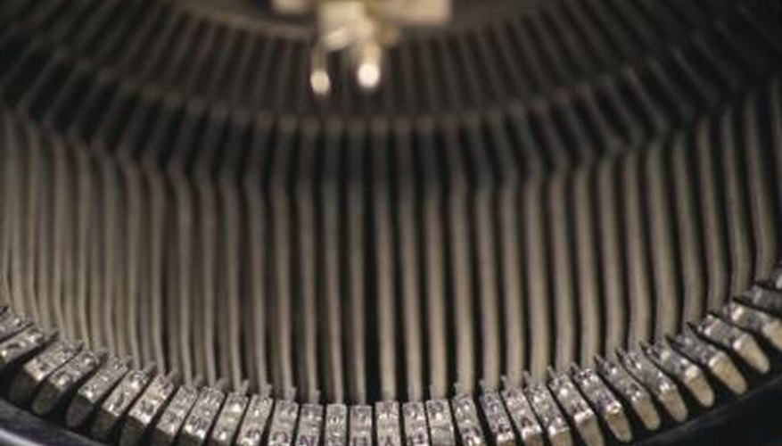 Cleaning your typewriter might eliminate simple issues.