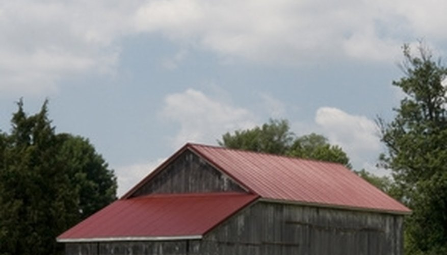 This metal roof has been added as an upgrade to an old barn.