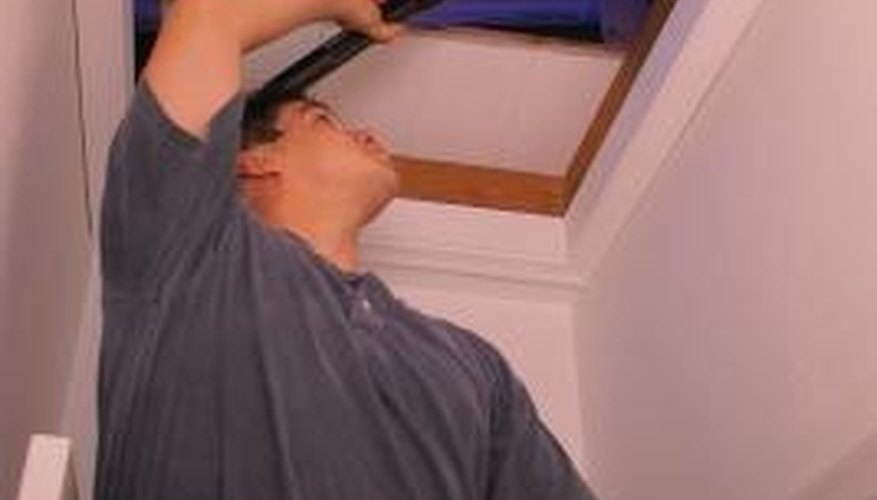 An uninsulated attic access door can allow a great deal of heat to escape your home.