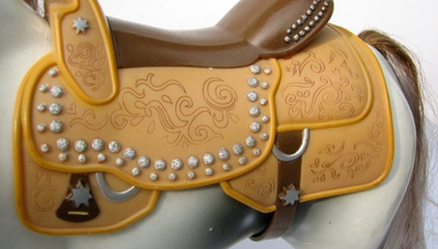 A western saddle can be used to create a one-of-a-kind chair.