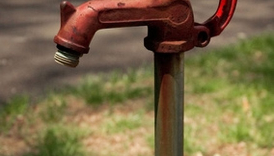 Jet pumps power shallow water wells.