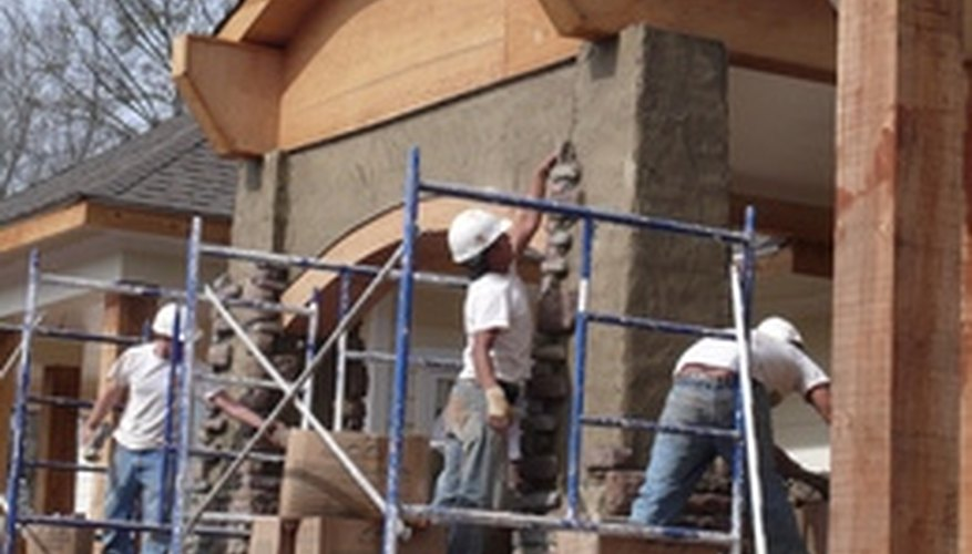 Installing stone veneer gives your home an elegant exterior.