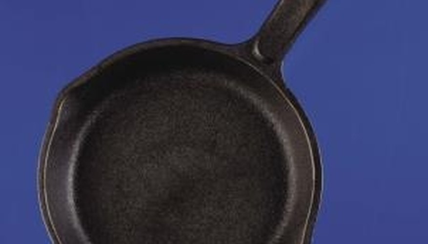 Re-season your cast iron skillet to keep it in good condition.