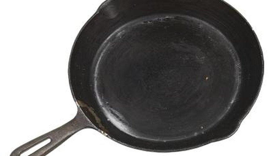 A cast-iron skillet must be cured to protect its surface.