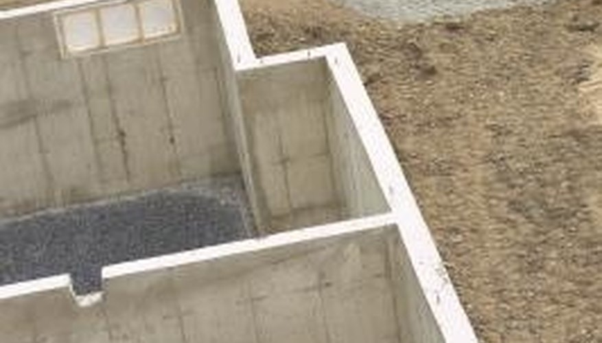 Calculating the concrete necessary for a basement requires basic math calculations.