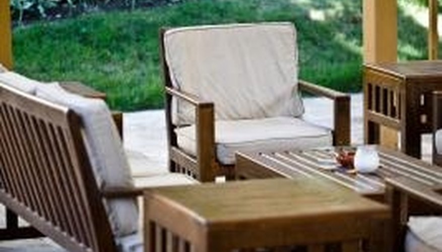Create the look you want by sewing your own outdoor cushions.