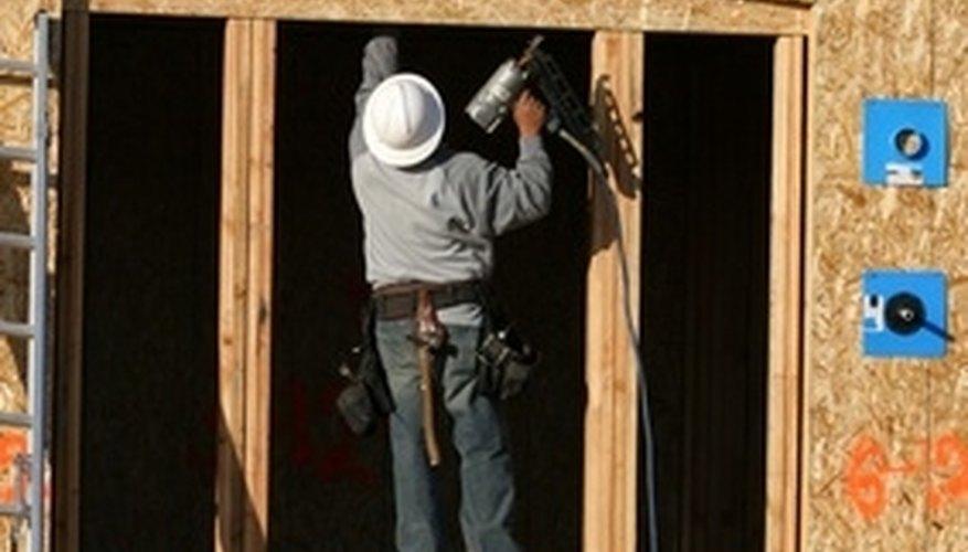 Use angled nail guns when framing or finishing corners or tight angles.