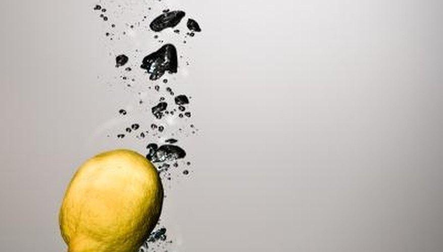 Fresh lemon juice can remove hard-water deposits.