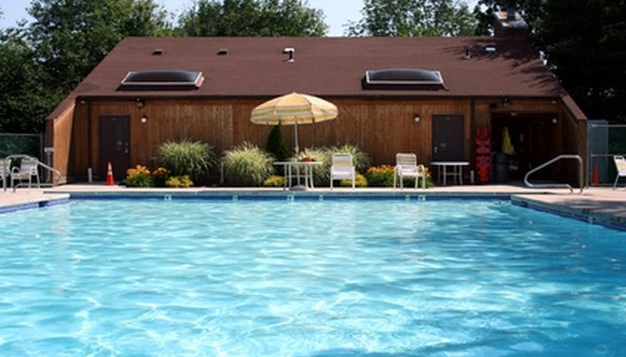 Pool heaters keep pools warm during the colder months.