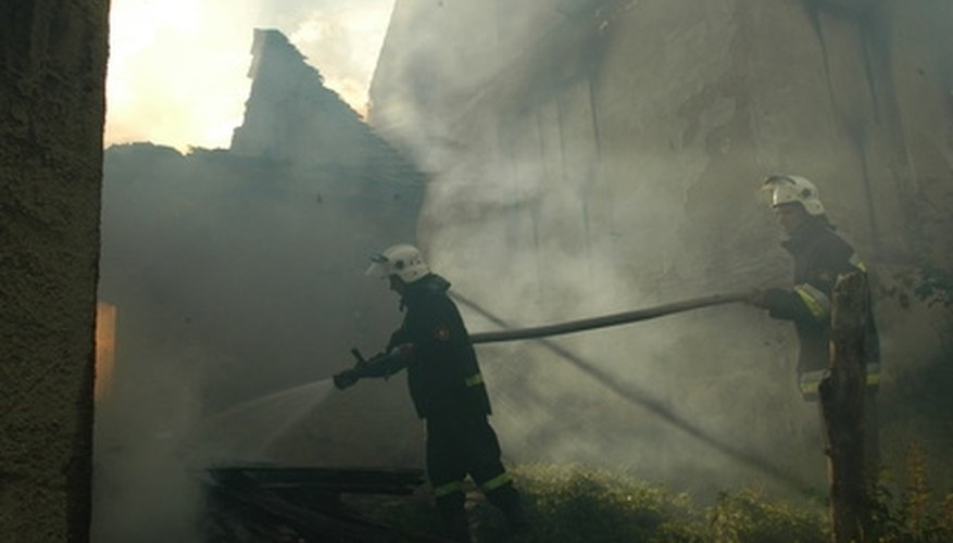 Smoke from a house fire with plastic piping can be a hazard to anyone nearby.