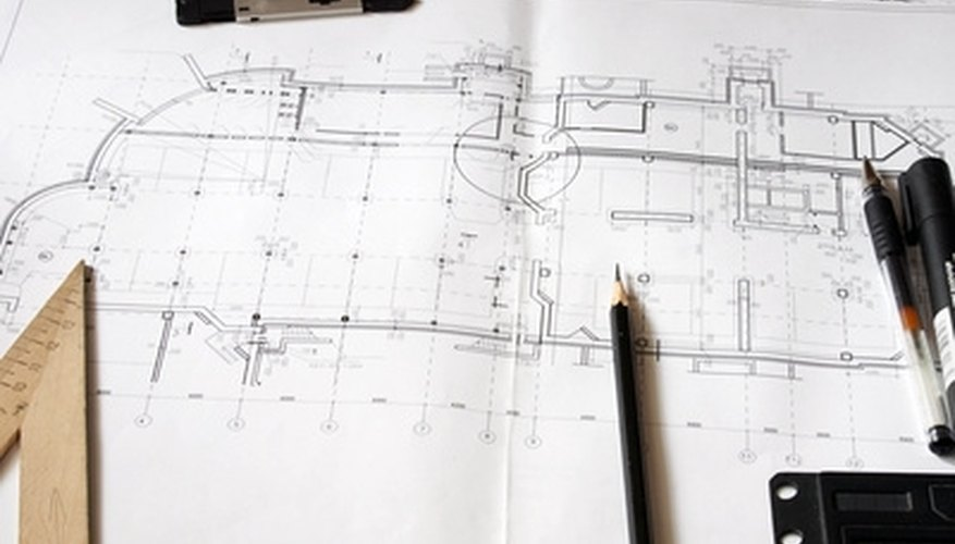 Construction drawings are created using a vast amount of special symbols and markings to describe complex objects simply on paper.